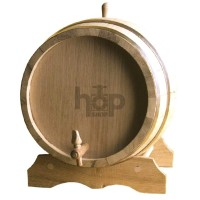 Treated Oak Barrel With Tap...
